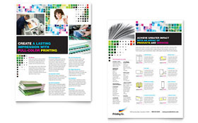 Printing Company - Datasheet Template Design Sample