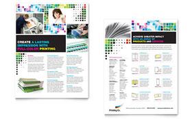 Printing Company - Datasheet Template