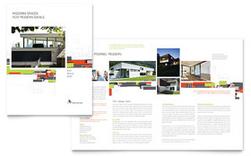 Architectural Design - Brochure - Corel CorelDraw Template Design Sample