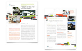 Architectural Design - Sales Sheet Sample Template