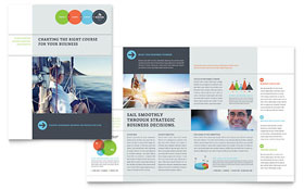 Business Analyst - Adobe Illustrator Brochure