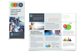 Business Analyst - Adobe Illustrator Tri Fold Brochure Template