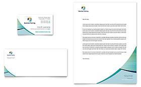 Business Training - Business Card & Letterhead Template
