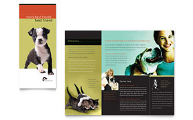 Veterinary Clinic - Tri Fold Brochure Template