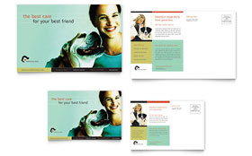 Veterinary Clinic - Postcard Template Design Sample