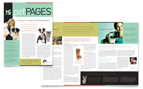 Veterinary Clinic - Newsletter Template Design Sample