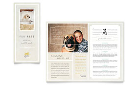 Pet Hotel & Spa - Brochure Template Design Sample