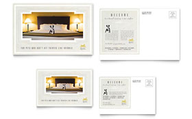 Pet Hotel & Spa - Postcard Template Design Sample