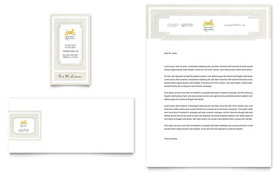 Pet Hotel & Spa - Business Card & Letterhead Template Design Sample