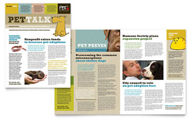 Animal Shelter & Pet Adoption - Newsletter Template Design Sample