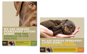 Animal Shelter & Pet Adoption - Poster