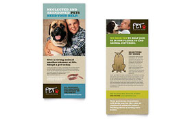 Animal Shelter & Pet Adoption - Rack Card Template Design Sample