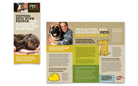 Animal Shelter & Pet Adoption - Graphic Design Tri Fold Brochure