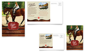 Horse Riding Stables & Camp - Postcard Template