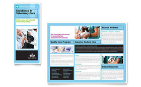 Animal Hospital - Tri Fold Brochure Template Design Sample