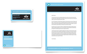 Animal Hospital - Business Card & Letterhead Template Design Sample