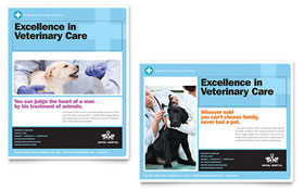 Animal Hospital - Poster Template Design Sample