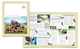 Nature & Wildlife Conservation - Apple iWork Pages Brochure Template