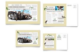 Nature & Wildlife Conservation - Postcard Template Design Sample