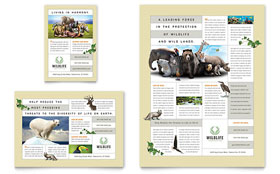 Nature & Wildlife Conservation - Print Ad Template Design Sample