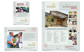 Real Estate Agent & Realtor - Print Ad Sample Template