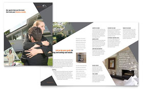 Contemporary & Modern Real Estate - Brochure Template Design Sample
