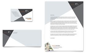 Contemporary & Modern Real Estate - Business Card & Letterhead Template Design Sample