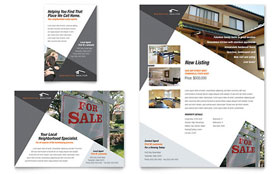 Contemporary & Modern Real Estate - Flyer & Ad Template Design Sample