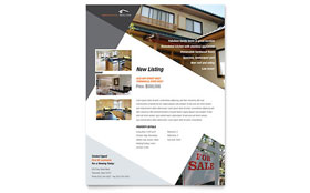 Contemporary & Modern Real Estate - Flyer Template Design Sample
