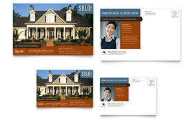 Real Estate Agent & Realtor - Postcard Template Design Sample