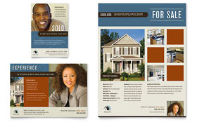 Real Estate Agent & Realtor - Flyer & Ad Template Design Sample