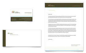 Urban Real Estate - Business Card & Letterhead Template Design Sample