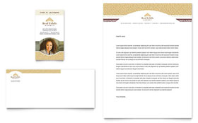 Luxury Real Estate - Business Card & Letterhead Template Design Sample