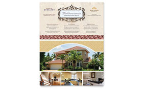Luxury Real Estate - Flyer Template Design Sample