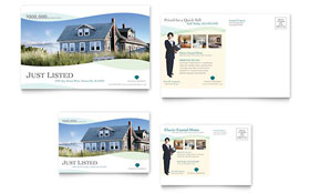 Coastal Real Estate - Postcard Template