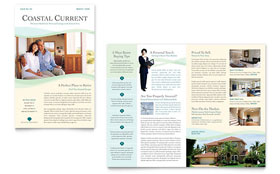 Coastal Real Estate - Newsletter Template Design Sample