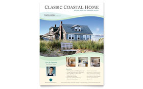 Coastal Real Estate - Flyer Template Design Sample