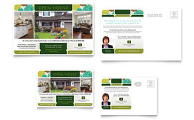 Real Estate - Postcard Template Design Sample