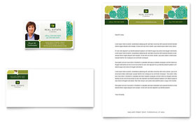 Real Estate - Business Card & Letterhead Template Design Sample