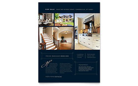 Luxury Home Real Estate - Flyer Template Design Sample