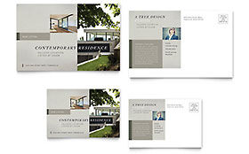 Contemporary Residence - Postcard Sample Template