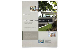 Contemporary Residence - Flyer Template