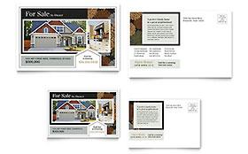 Suburban Real Estate - Postcard Template