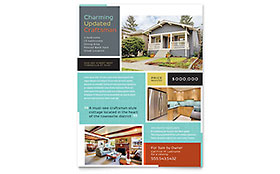 Craftsman Home - Flyer Template