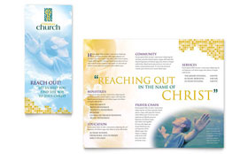 Christian Church - Microsoft Publisher Brochure Template