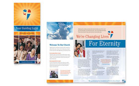 Evangelical Church - Apple iWork Pages Brochure Template