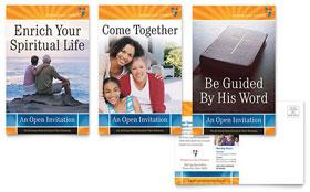 Evangelical Church - Postcard Template