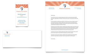 Evangelical Church - Business Card & Letterhead Template Design Sample