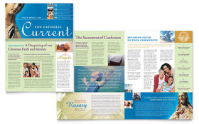 Catholic Parish and School - Newsletter Template Design Sample