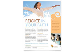 Christian Church - Flyer Template Design Sample